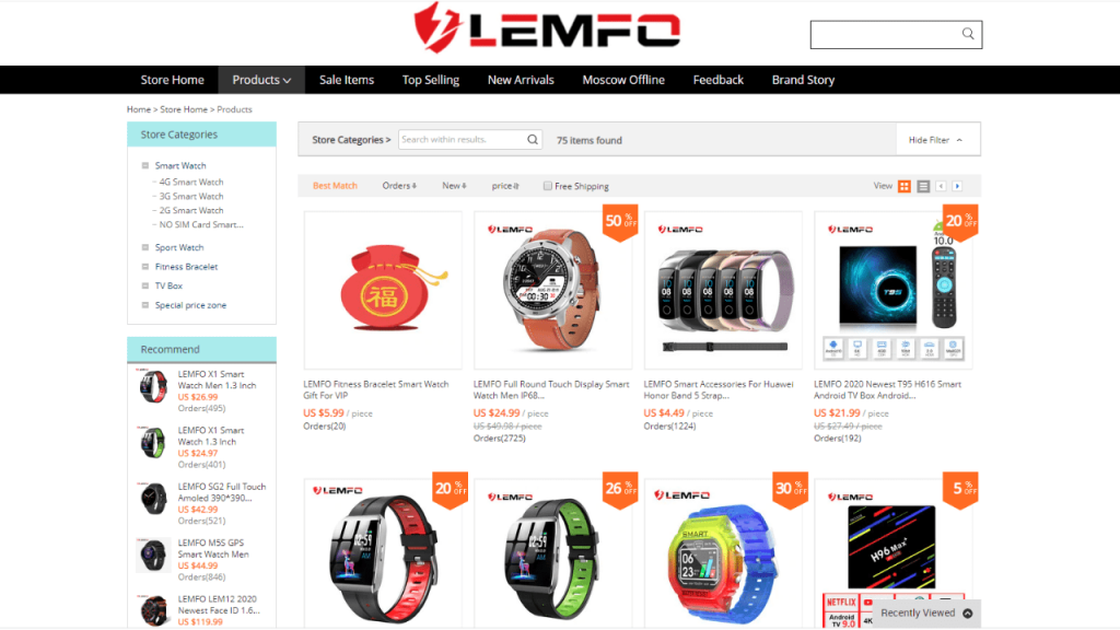 11. Lemfo-best & top smartwatch brands on aliexpress