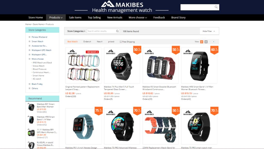 13. Makibes-best & top smartwatch brands on aliexpress