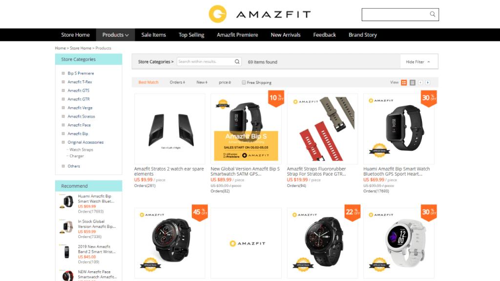 14. Amazfit-best & top smartwatch brands on aliexpress
