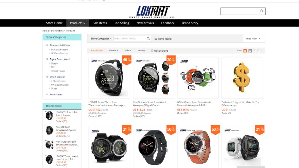 15. Lokmat-best & top smartwatch brands on aliexpress
