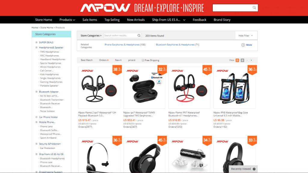 18. Mpow-best & top headphones and earphones brands on aliexpress