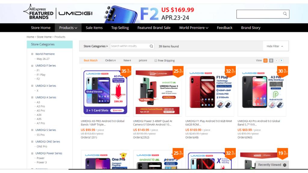 3. Umidigi-best & top brands on aliexpress