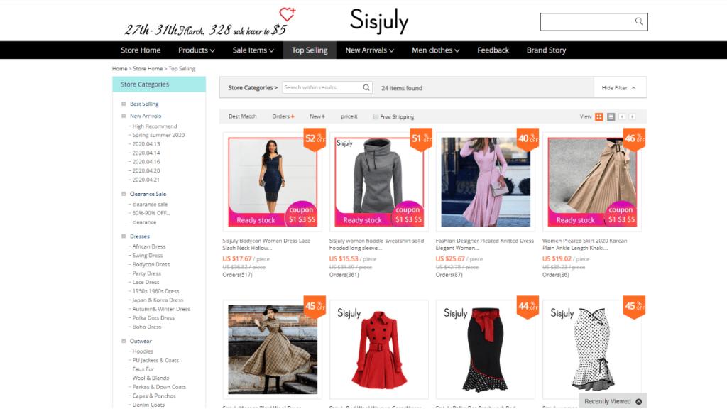 30. Sisjuly-best & top women fashion brands on aliexpress