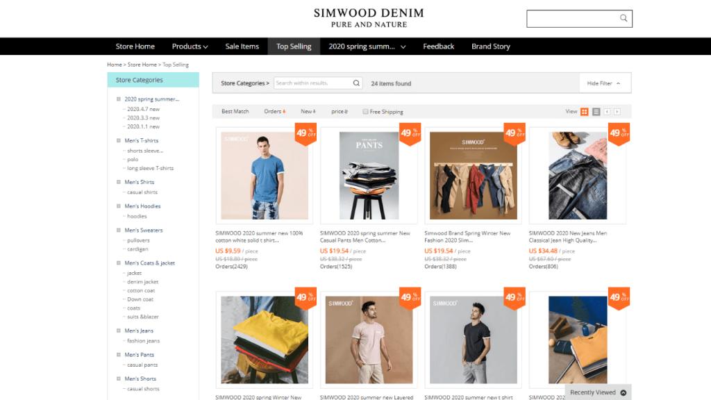 33. Simwood-best & top men fashion brands on aliexpress