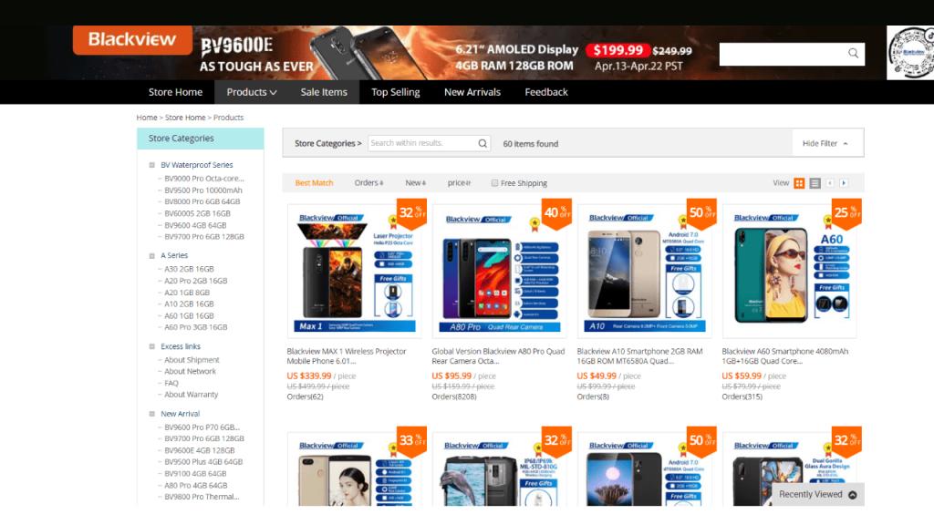 5. Blackview-best & top brands on aliexpress