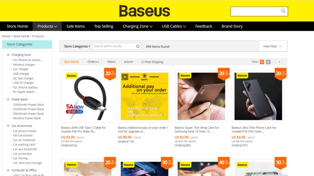 7. Baseus-best & top brands on aliexpress