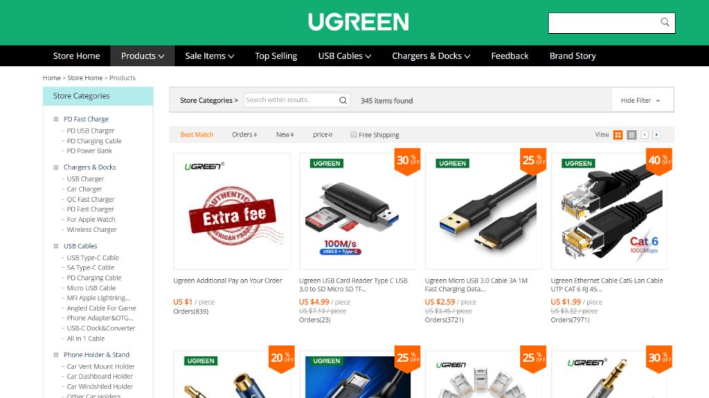 8. Ugreen-best & top brands on aliexpress