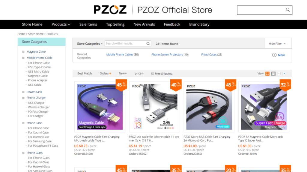 9. Pzoz-best & top brands on aliexpress