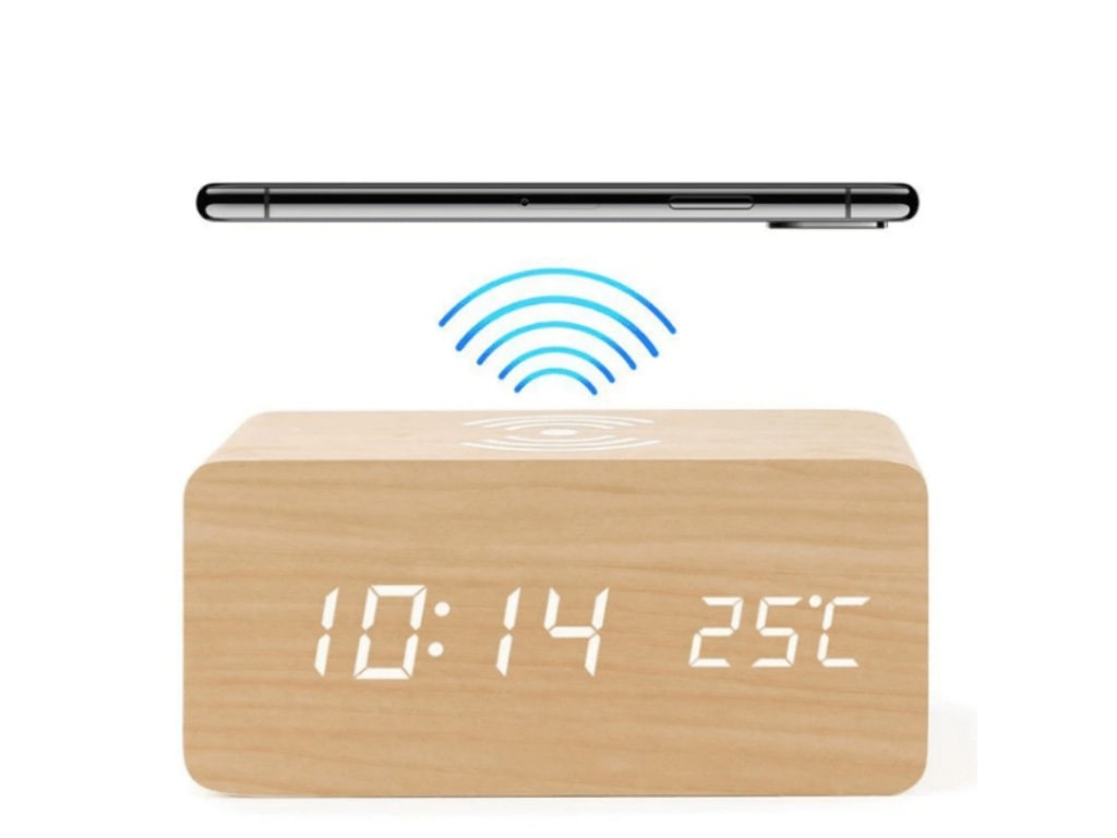 Alarm Clock With Qi Wireless Charging Pad-best things to buy on aliexpress